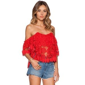 Tularosa x Revolve | Amelia Crop Top in Cayenne